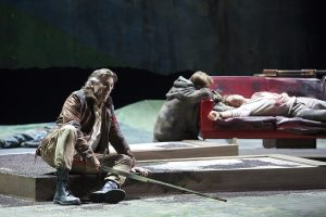 Acte III, Tableau 2 : Thomas Hampson (Arthus), Stanislas de Barbeyrac (Lyonnel), Roberto Alagna (Lancelot)