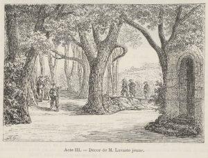 Acte III : Forêt de Saint-Germain, à l'extérieur d'une chapelle