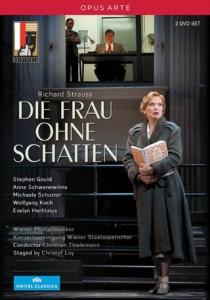 Die Frau Ohne Schatten mise en scène par Christof Loy : Anne Schwanewilms (L'Impératrice) revit l'enregistrement de cet enregistrement dans les habits de Leonie Rysanek, alors jeune chanteuse au milieu de grands chanteurs reconnus