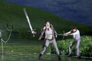 Acte I, Tableau 2 : Alexandre Duhamel (Mordred), Roberto Alagna (Lancelot)