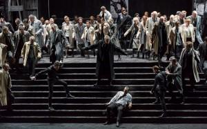 Acte I : Nikolai Schukoff (Eléazar), Vincent Le Texier (Ruggiero)