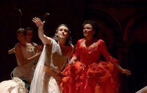 L'Opéra : Reinoud van Mechelen (Zéphyre), Rachel Redmond (Léontine)
