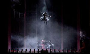 L'Opéra : Marc Mauillon (Damire), Rachel Redmond (Léontine)