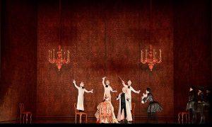 Le Bal : Marcel Beekman (Le Maître de Chant), Marc Mauillon (Alamir), Cyril Auvity (le Maître de Danse)